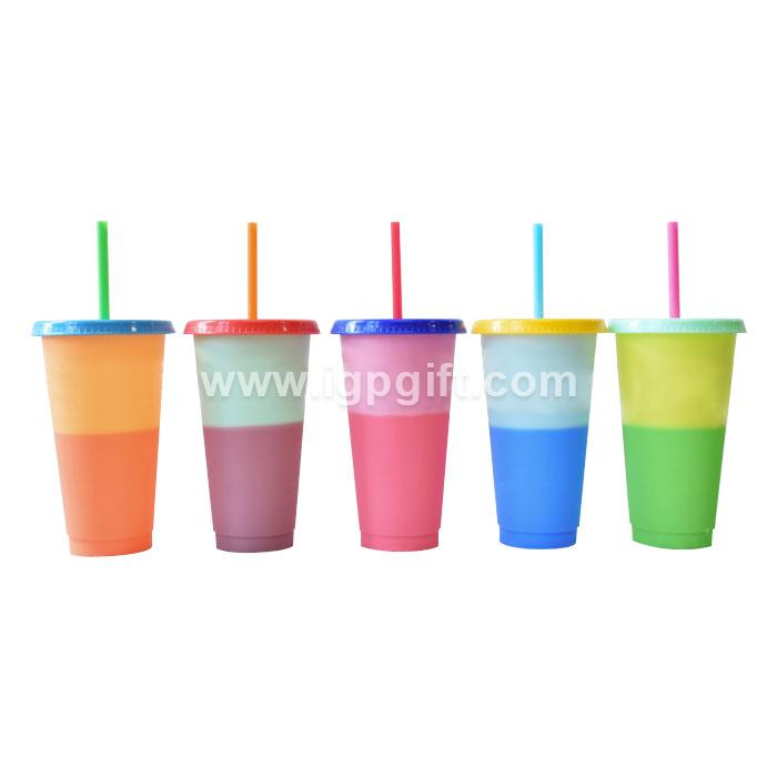 Eco-friendly PP heat discolored cup