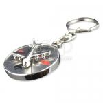 Aircraft Compass Keychain