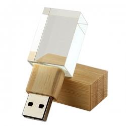 竹水晶發光USB手指