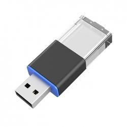 滑動發光水晶USB手指