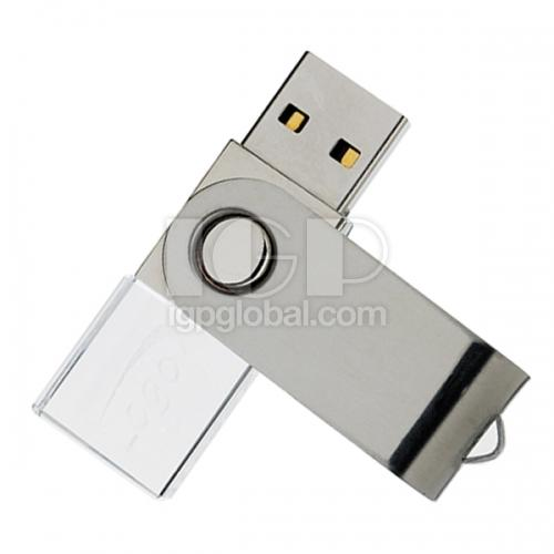 Rotate led crystal usb flash driver