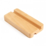 Double groove solid wood phone holder