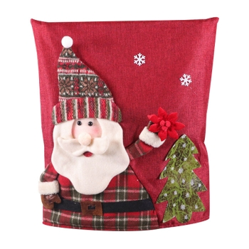 Christmas linen seat cover