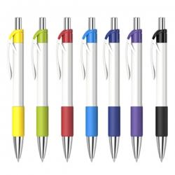時尚白桿廣告筆