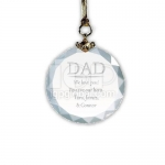 Circle Cut Crystal Key Chain