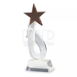 Five-pointed Star Crystal Trophy