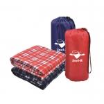 Grid Pattern Suede Camping Blanket