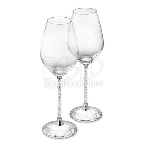 Crystal Wine Glass with Diamond Cup stick