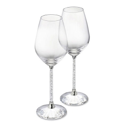 鑽石杯桿水晶紅酒杯