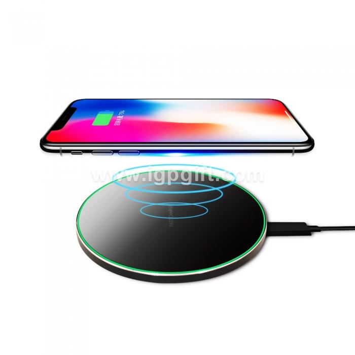 Wireless fast-charging charger with atmosphere light