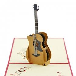 紙雕吉他立體賀卡
