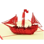 3D Sailboat Greeting Card