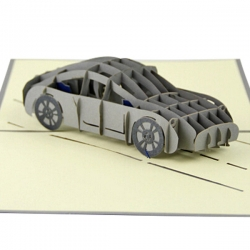 3D立體跑車祝福賀卡