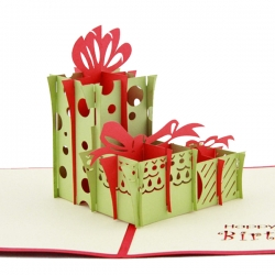 3D立體禮盒賀卡