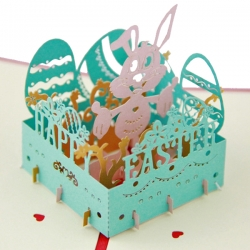 兔子樂園立體復活節賀卡