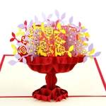 Paper Sculpture Basket Greeting Card