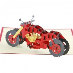 3D立體電單車賀卡