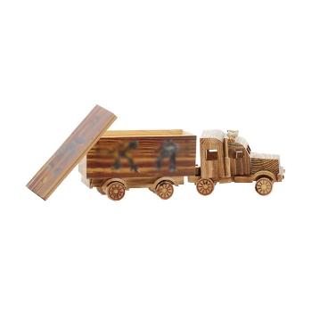 木質集裝箱車模工藝擺件