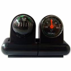 車載指南球 + 溫度計