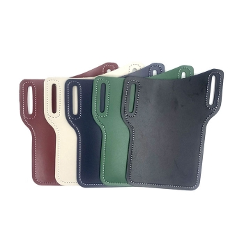 Leather waist bag for mobile phone