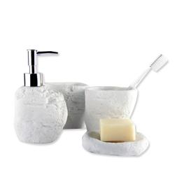 石頭形樹脂洗漱套裝