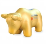 Golden bull stress ball