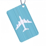 Brushed aluminum luggage tag