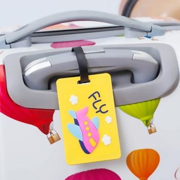 PVC軟膠卡通行李牌旅遊配件