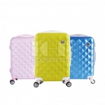 Diamond Pattern Suitcase