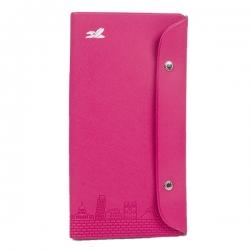 PVC十字紋暗釦護照套