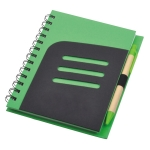 Two-color Recycle Notebook with Pen