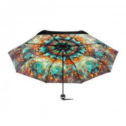 印花縮骨摺疊傘