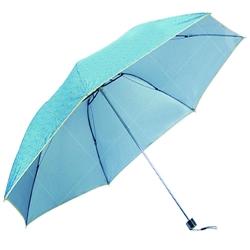 素色花紋縮骨摺疊傘