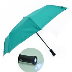 電筒縮骨自動傘