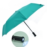 Automatic Folding Advertising Umbrella with Flashlight