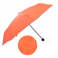 遇水開花黑膠傘