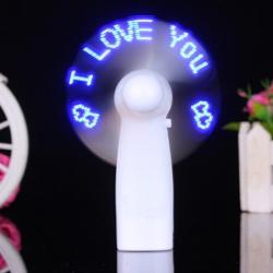 迷你手提LED發光風扇