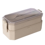 Wheat Double Layer Lunch Box