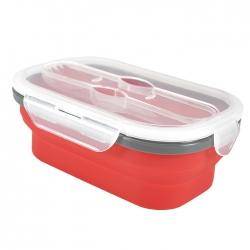 硅膠伸縮折疊便餐盒