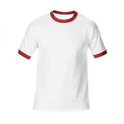 純棉撞色圓領T恤
