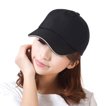 Pure Color Steel Buckle Cap