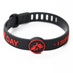 Waterproof wrist band with soft rubber bracelet