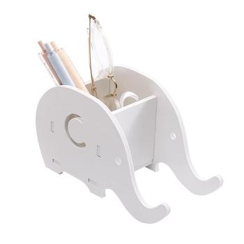 木質大象手機支架收納盒