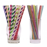 Eco-friendly colored paper straws