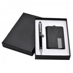 名片夾+水晶簽字筆套裝
