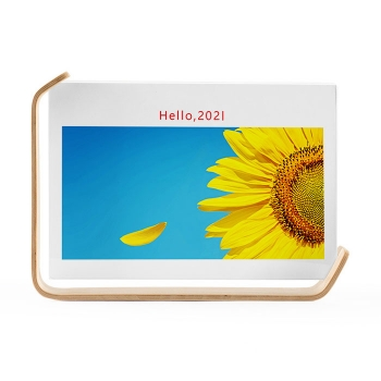 Wooden photo frame with calendor