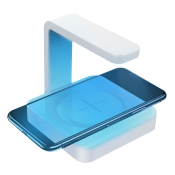 Wireless charger with UV germicidal lamp