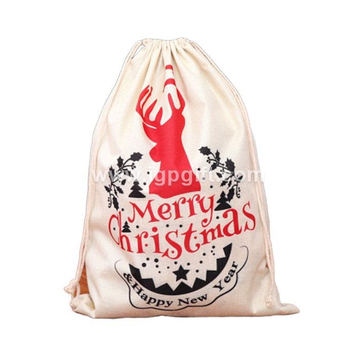 聖誕節麻布背包束口袋
