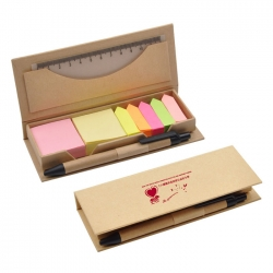 Eco Memo Pad With Pen and Ruler