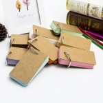 Card memo notebook with buckle
